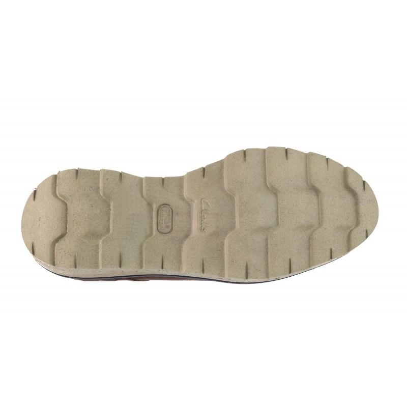 Мъжки кожени боти Clarks Frelan Hike кафяви XL Extralight®
