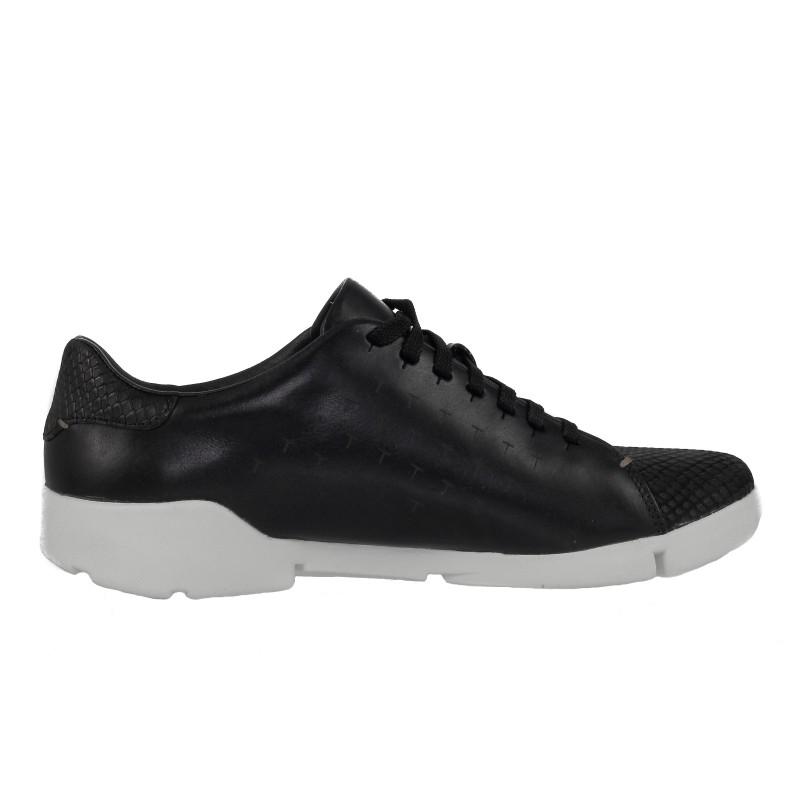 Дамски спортни обувки Clarks Tri Abby от естествена кожа черни