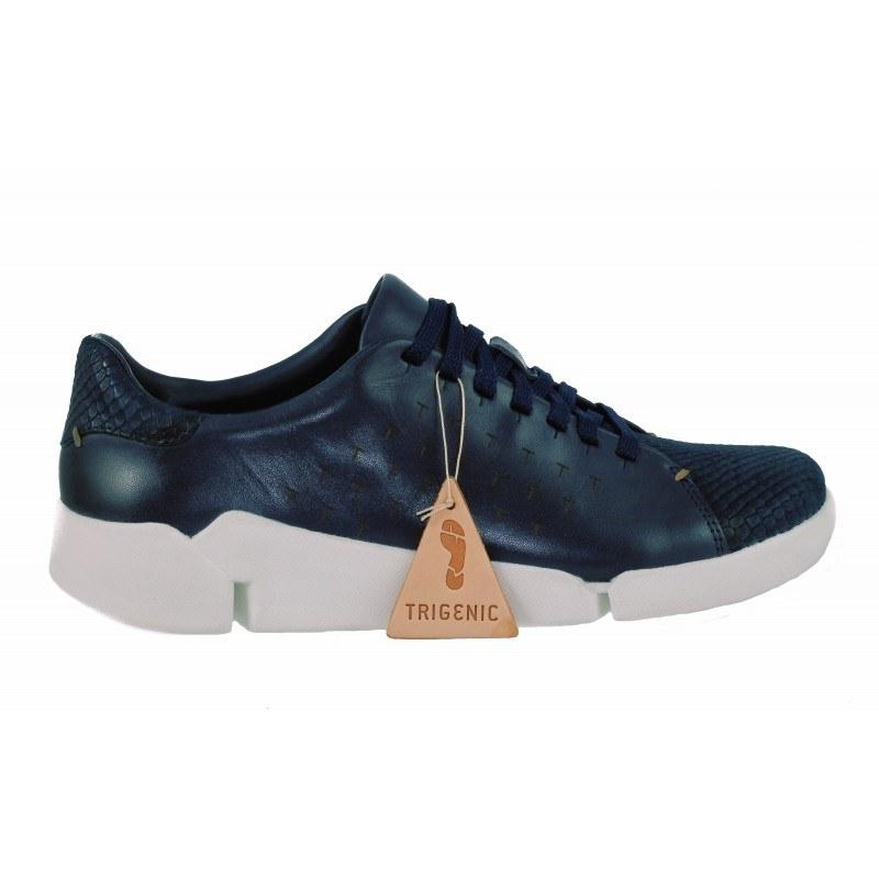 Дамски спортни обувки Clarks Tri Abby от естествена кожа тъмно сини