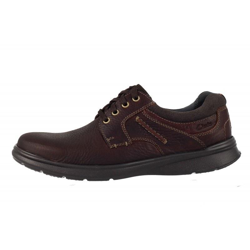 Мъжки кожени обувки с връзки Clarks Cotrell Plain кафяви
