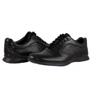 Мъжки спортни обувки ClarksTynamo Race естествена кожа черни