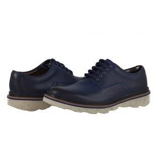 Мъжки обувки Clarks Frelan Lace от естествена кожа сини