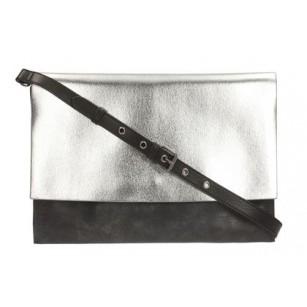 Дамска чанта плик с дръжка Clarks Moroccan Jewel сребърно и черно