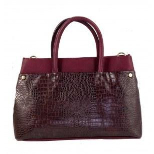 Дамска голяма чанта Clarks Maddington Way бордо
