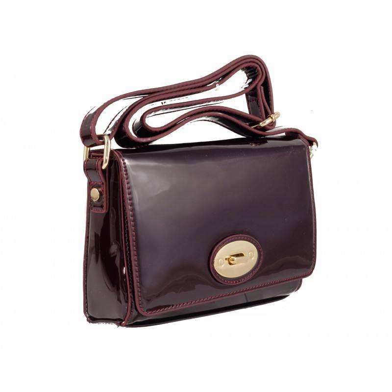 Дамска малка лачена чанта clarks Maria Ann бордо