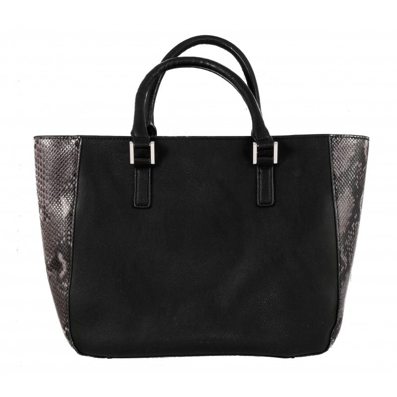 Дамска голяма чанта Clarks Magnolia Rose от изкуствена кожа змийски мотив черно