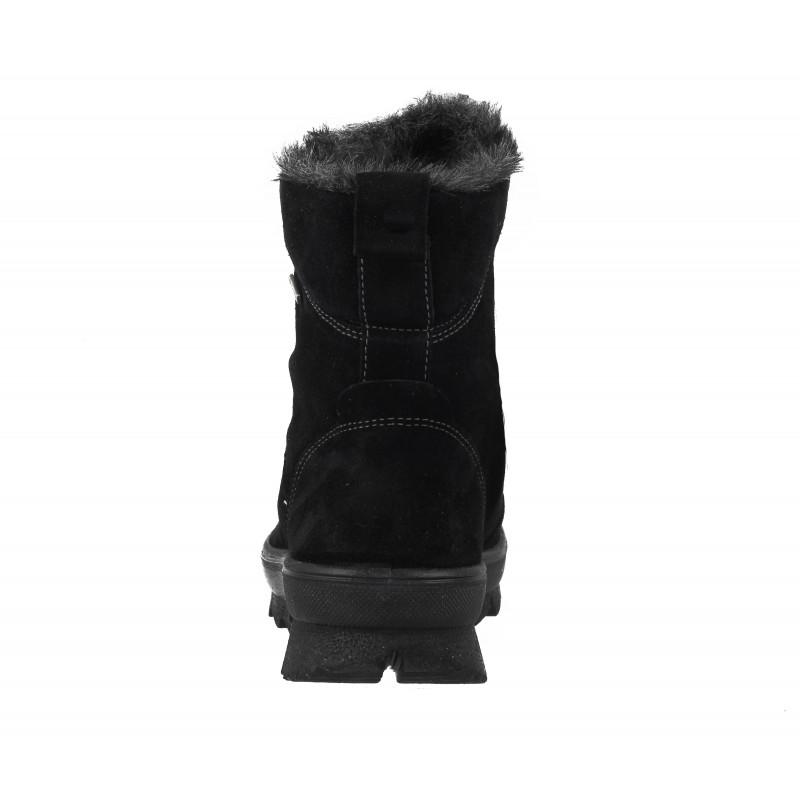 Дамски кожени боти с връзки Legero черни GORE-TEX® НЕПРОМОКАЕМИ