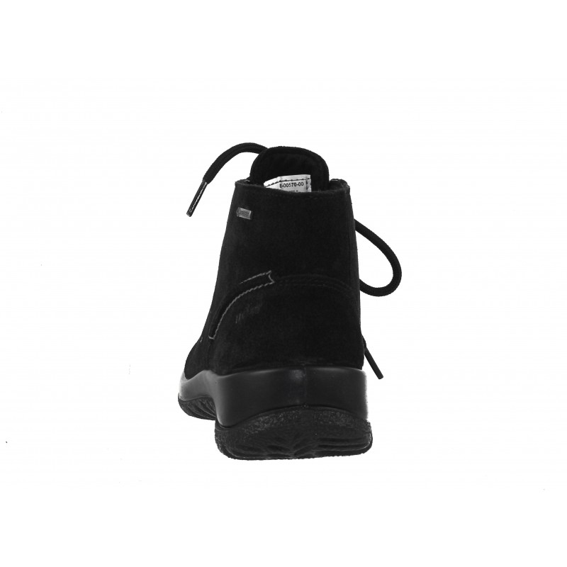Дамски равни боти естествена кожа Legero черни GORE-TEX® непромокаеми