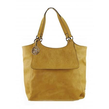 Дамска средна чанта Marina Galanti жълта