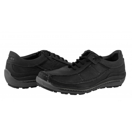 Мъжки кожени обувки с връзки черни