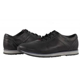 Мъжки спортни обувки с връзки черни