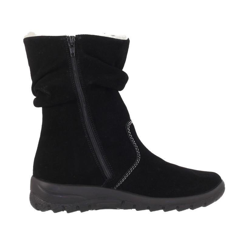 Дамски къси ботуши на равно ходило Rieker  черни Z7171-01