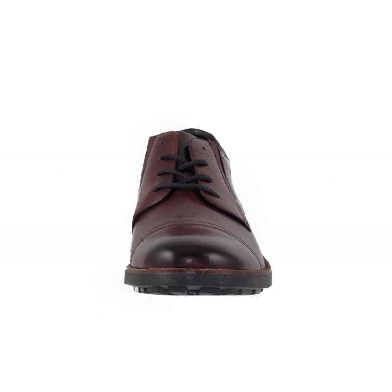 Мъжки кожени обувки с връзки Rieker кафяви