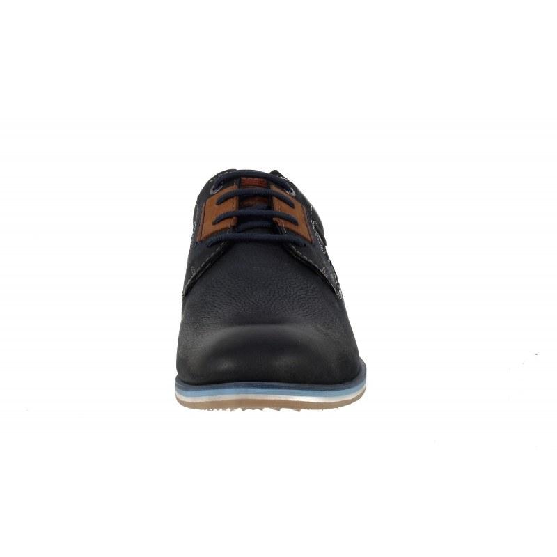 Мъжки кожени обувки с връзки S.Oliver сини