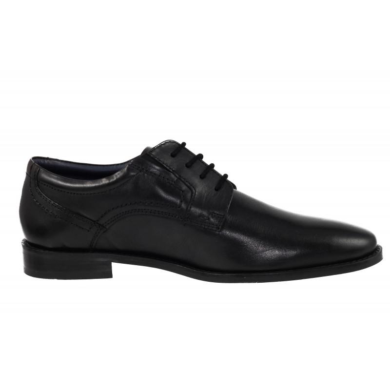 Мъжки обувки с връзки с S.Oliver естествена кожа черни