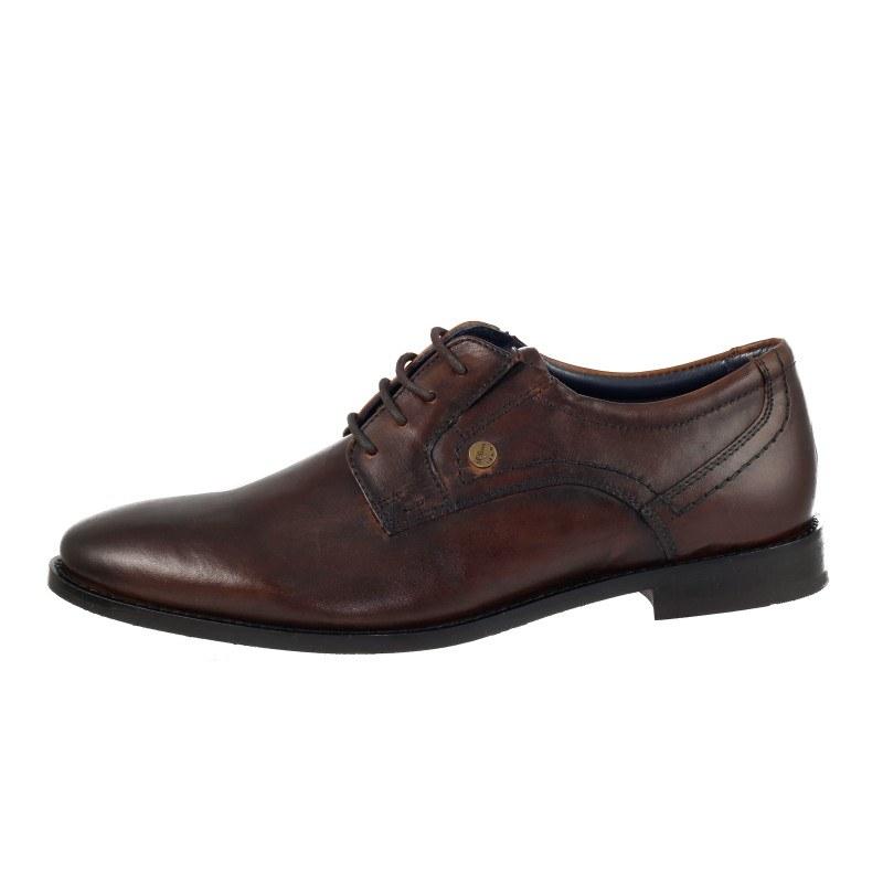 Мъжки обувки с връзки с S.Oliver естествена кожа кафяви