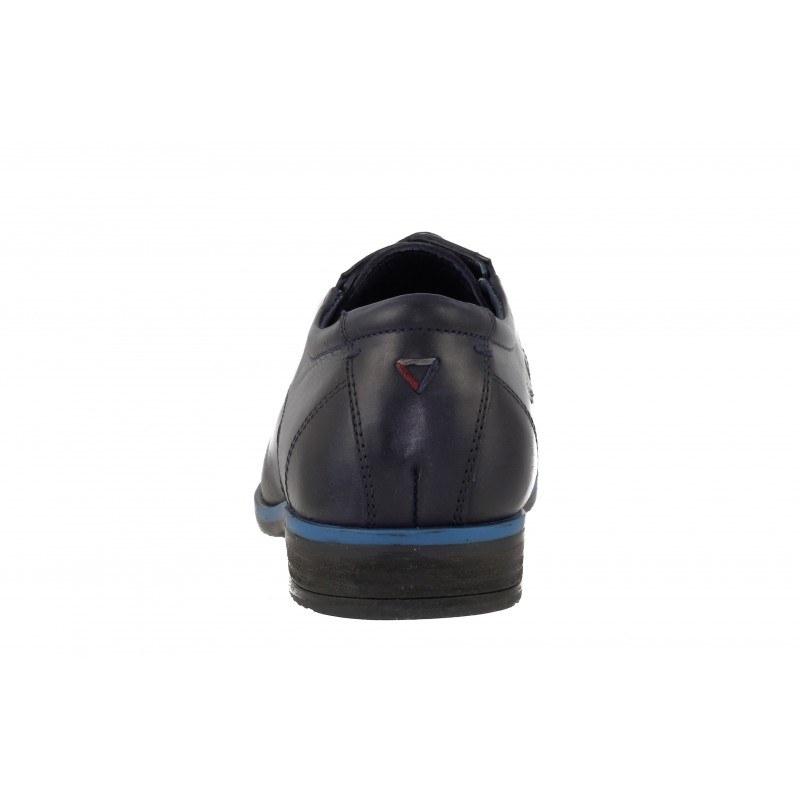 Мъжки кожени обувки с връзки S.Oliver черни
