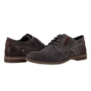Мъжки анатомични обувки естествен велур S.Oliver сиви vintage