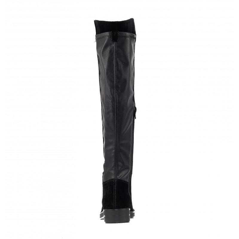 Дамски равни ботуши чизми S.Oliver естествен велур