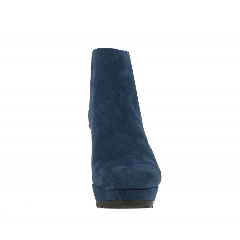 Дамски боти на платформа S.Oliver сини