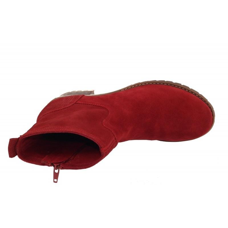 Дамски анатомични боти с мемори пяна S.Oliver червени