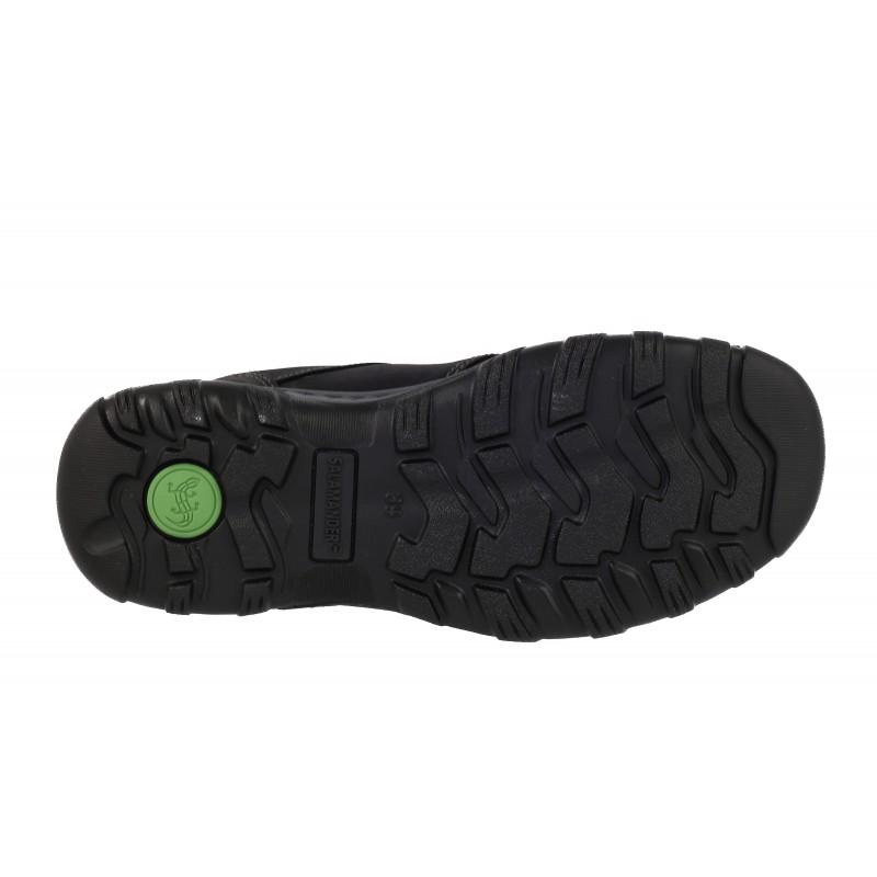 Мъжки кожени обувки водоустойчиви Salamander черни
