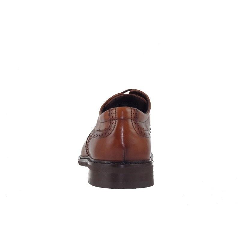 Мъжки кожени обувки Salamander brogue коняк екстра-широки