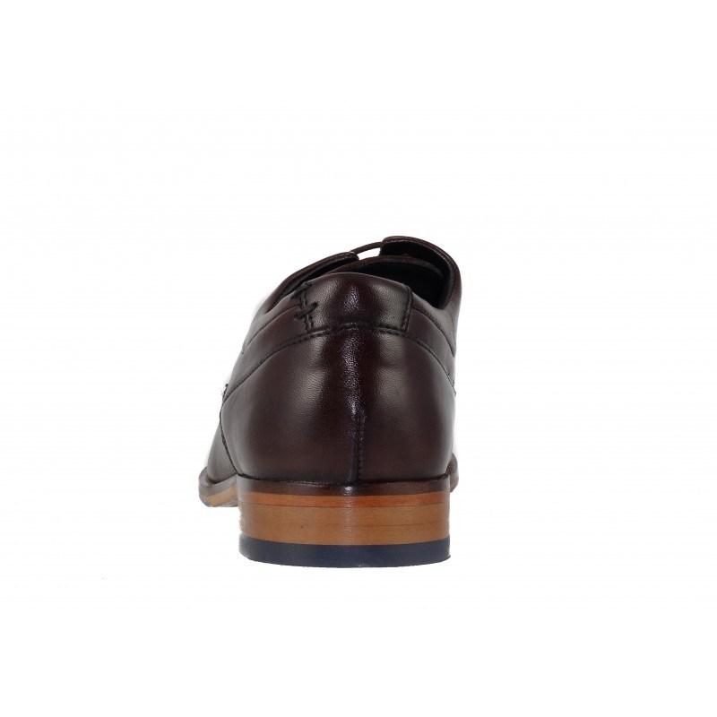 Мъжки обувки от естествена кожа Salamander кафяви естествен гьон