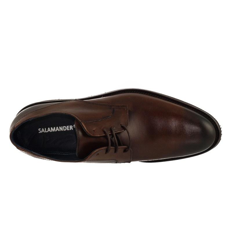 Мъжки кожени обувки с връзки кафяви Salamander