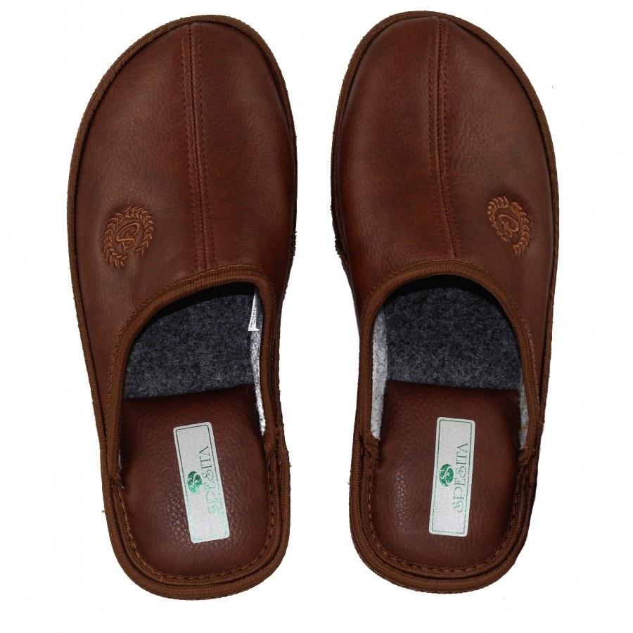 Мъжки домашни чехли Spesita кафяви MAC