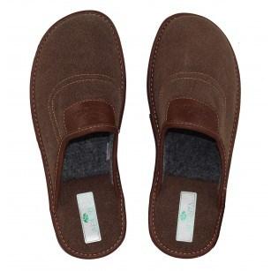Мъжки домашни чехли Spesita кафяви PAOLO