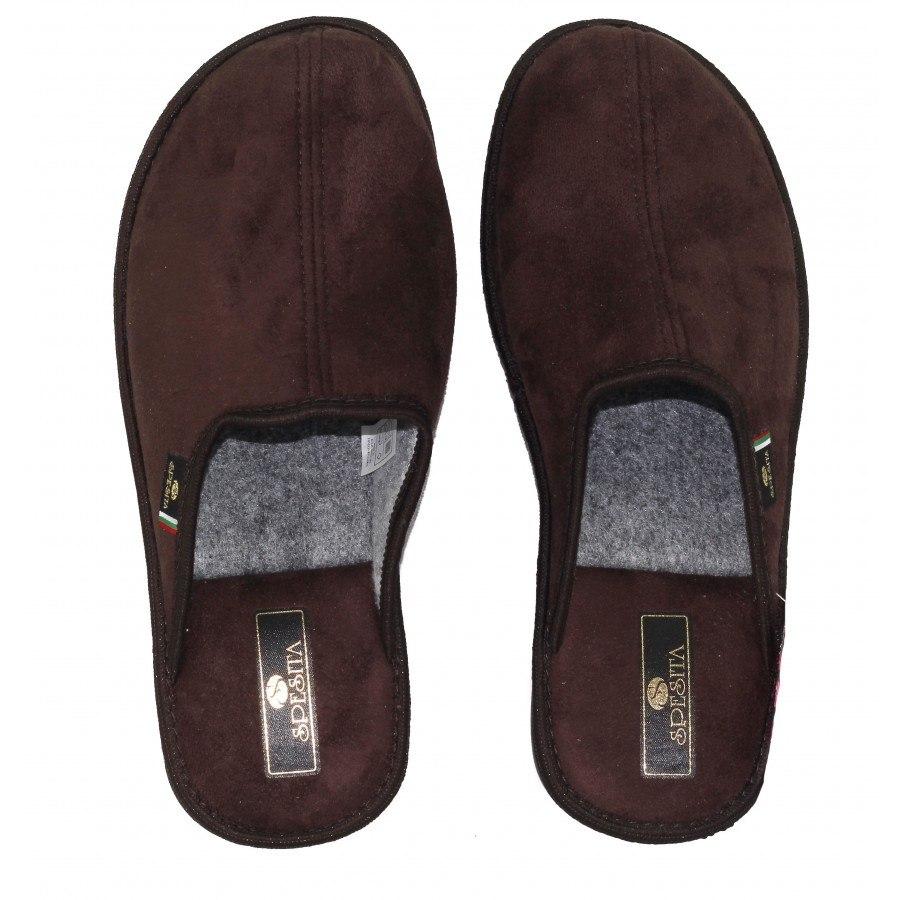 Мъжки домашни чехли Spesita кафяви TAD