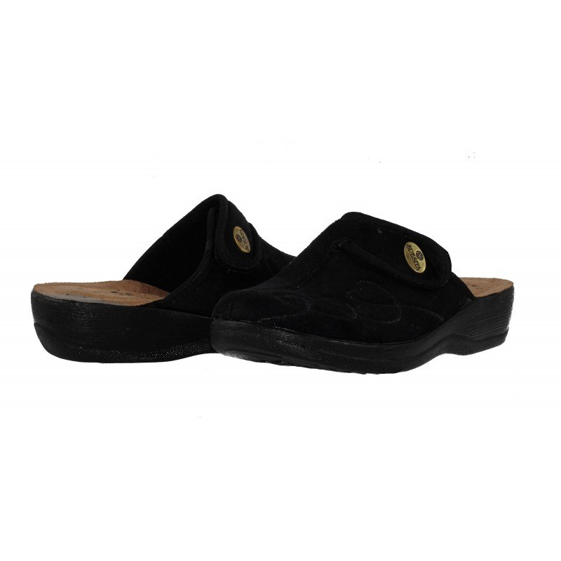 Дамски домашни чехли Spesita черни GLORIA