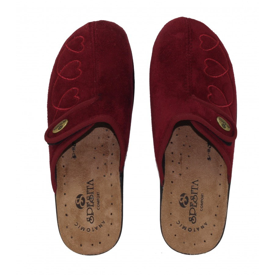 Дамски домашни чехли Spesita бордо GLORIA