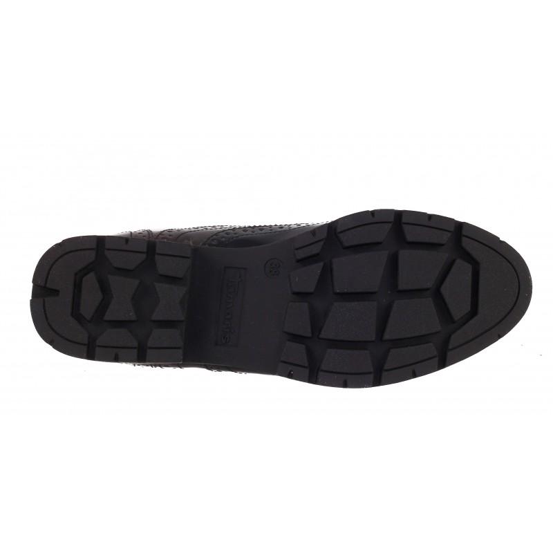 Дамски обувки с връзки Tamaris brogue черни/бордо