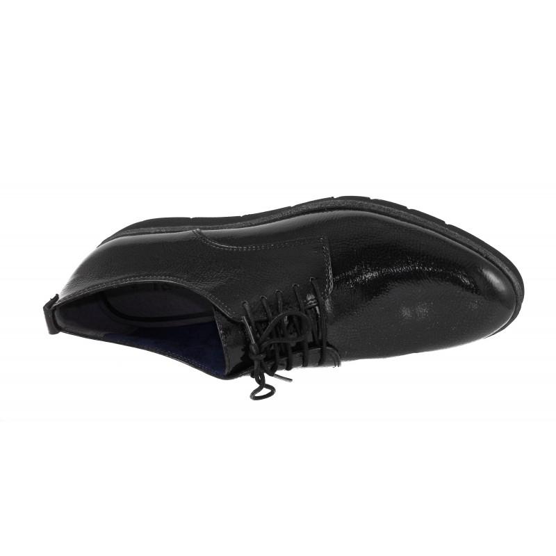 Дамски равни обувки лачени Tamaris т.сиви мемори пяна