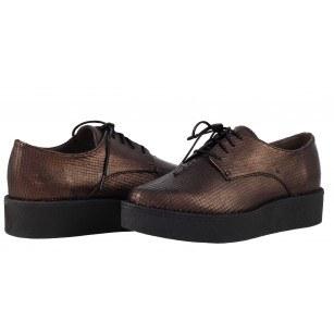 Дамски обувки на платформа с връзки Tamaris мед