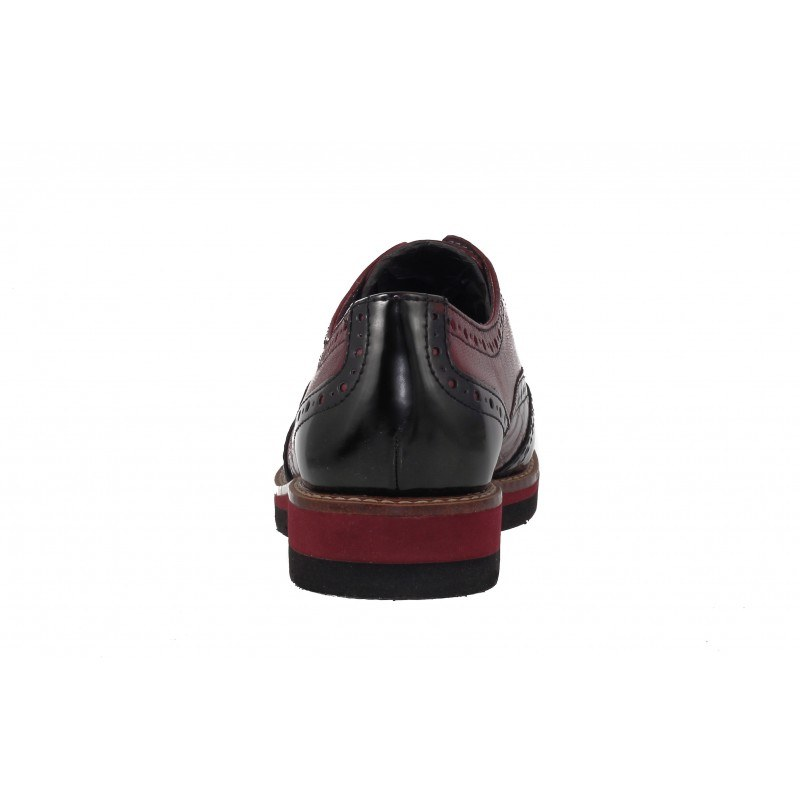 Дамски анатомични обувки с платформа Tamaris бордо/комби