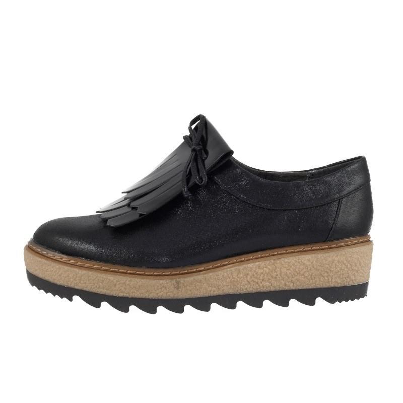 Дамски обувки на платформа черни Tamaris