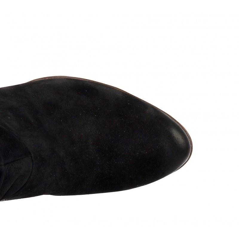 Дамски кожени боти на ток Tamaris черни мемори пяна ANTISHOKK®