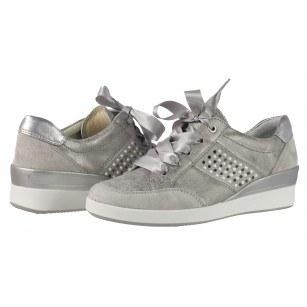 Дамски спортни обувки от естествена кожа Ara сребристи