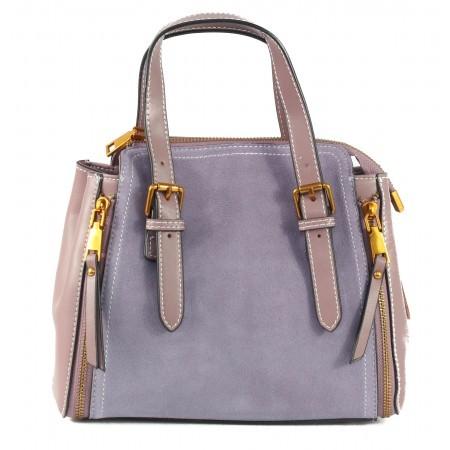 Дамска чанта от естествена кожа BE ME лилава