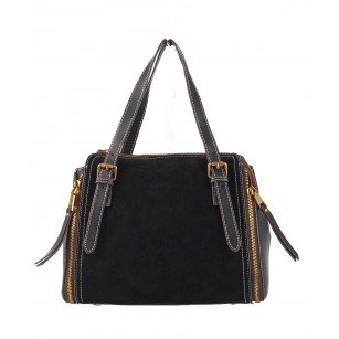 Дамска чанта от естествена кожа BE ME черна