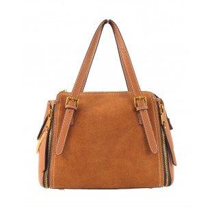 Дамска чанта от естествена кожа BE ME кафява