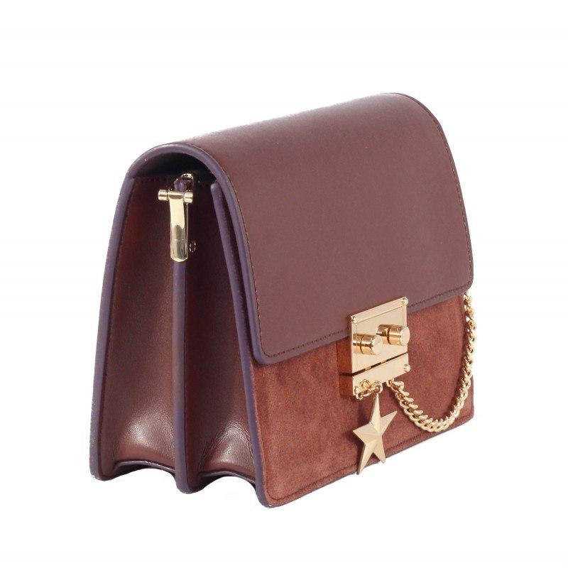 Дамска малка чанта от естествена кожа BE ME кафява