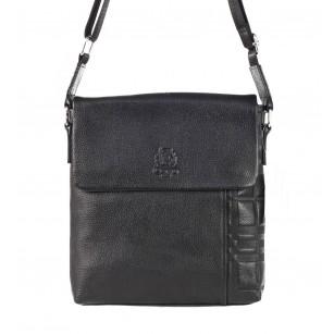 Мъжка чанта през тяло от естествена кожа Cervo