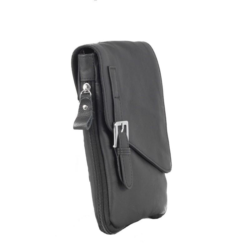 Мъжка чанта от естествена кожа през тяло Cervo