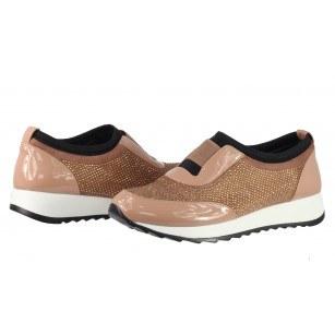 Дамски спортни обувки без връзки BE ME розови