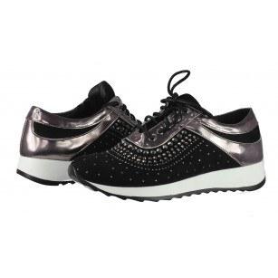 Дамски спортни обувки BE ME черни/металик