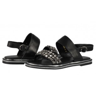 Дамски сандали от естествена кожа BE ME черни